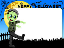 Halloween Photo picture frame border kid monster costume Royalty Free Stock Images