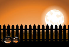 Halloween picket fence Royalty Free Stock Images
