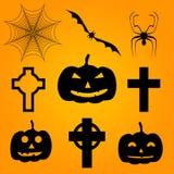 Halloween-pictogram vectorreeks Stock Foto