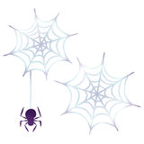 Halloween-pictogrammen/spinneweb Stock Afbeeldingen