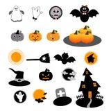 Halloween-pictogramvector Stock Fotografie