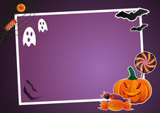 Halloween picture frame. Halloween picture and text frame Stock Images