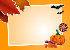 Halloween picture frame Stock Photography