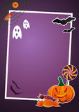 Halloween picture frame. Halloween picture and text frame Royalty Free Stock Photos