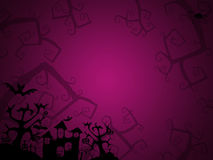 Halloween pink background for postcards Royalty Free Stock Images