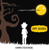 Halloween pirate silhouette background Stock Photography