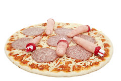 Halloween pizza Royalty Free Stock Images