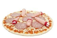 Halloween-Pizza lizenzfreie stockbilder
