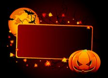 Halloween place card Royalty Free Stock Images