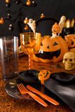 Halloween place setting Stock Image