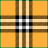 Halloween Plaid. Background illustration of orange and green plaid pattern Royalty Free Stock Images