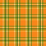 Halloween Plaid. Background illustration of orange and green plaid pattern royalty free illustration