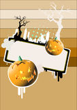 halloween plakat Obrazy Royalty Free