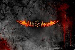 Halloween plakat ciemno Obraz Royalty Free