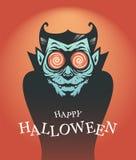Halloween-Plakat mit Dracula-Vampir stockbilder