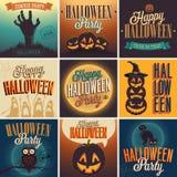 Halloween-Plakate eingestellt. Stockbilder