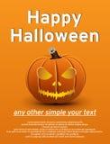 Halloween-Plakatkürbis Lizenzfreie Stockfotografie