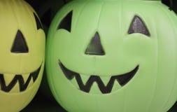 halloween plast-pumpor Arkivfoto
