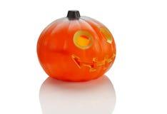 Halloween plastic pumkin Royalty Free Stock Image