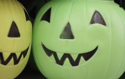 Halloween Plastic Pumpkins Stock Photo