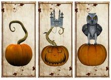 halloween pocztówki royalty ilustracja