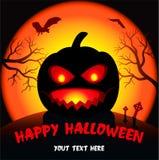 halloween pocztówki bania Obrazy Stock