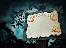 Halloween pointer orange color Stock Photography