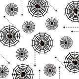 Halloween poison spider and web pattern background Royalty Free Stock Photography