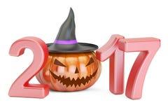 Halloween 2017 pojęcie, 3D rendering Obraz Stock