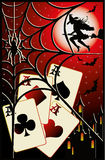 Halloween poker card Royalty Free Stock Image