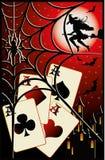 Halloween poker card. Vector illustration Royalty Free Stock Image