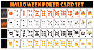 Halloween Poker Card Set. EPS10 file available for resize or change color Stock Photos