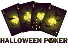 Halloween poker cards,  Stock Images