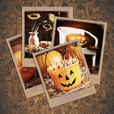 Halloween Polaroids Stock Images