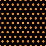 Halloween-Polka-Punkte Lizenzfreies Stockfoto