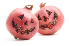 Halloween pomegranate Stock Photos