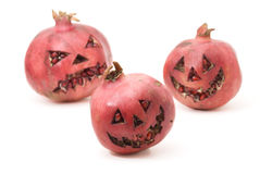 Halloween pomegranate Stock Images