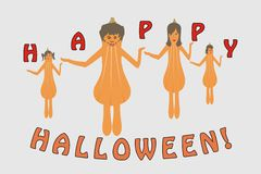 Halloween-Pompoen royalty-vrije stock afbeelding