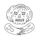 Halloween Pompoen en spoken vector illustratie