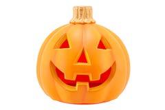 Halloween-pompoen enge die Jack O Lantaarn op witte achtergrond wordt geïsoleerd Royalty-vrije Stock Afbeeldingen