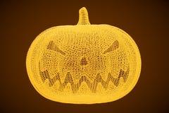 Halloween-Pompoen, het 3D teruggeven Stock Afbeelding