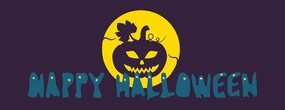 """Halloween-pompoen in het maanlicht â"""" 'Gelukkig Halloween Stock Fotografie"""