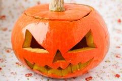 Halloween-pompoen Jack O'Lantern. Stock Fotografie