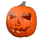 Halloween-pompoen (Jack-o'-lantern) Stock Afbeeldingen