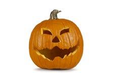 Halloween-pompoen met een grinny gezicht Stock Afbeeldingen