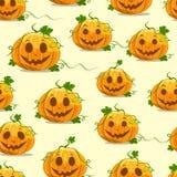Halloween-pompoen naadloos patroon Royalty-vrije Stock Afbeelding