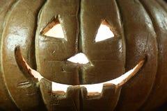 Halloween-Pompoen op de Houten Achtergrond van Grunge Rustick Stock Afbeelding