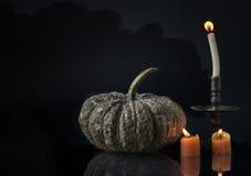 Halloween-pompoen op donkere toon Stock Afbeelding