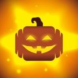 Halloween-Pompoen op glanzende Achtergrond Royalty-vrije Stock Foto