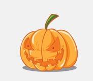 Halloween-pompoen. Vectorillustratie Royalty-vrije Stock Foto's